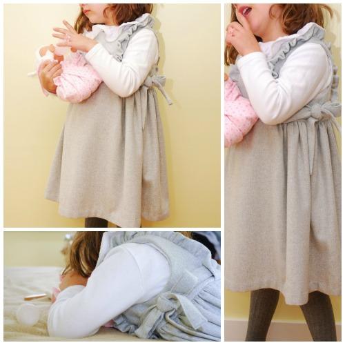 Colombine wool dress#8
